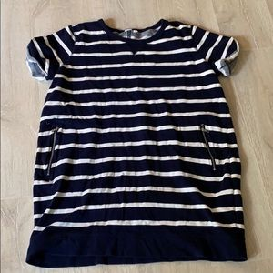 GAP Cotton Striped Sweatshirt Dress